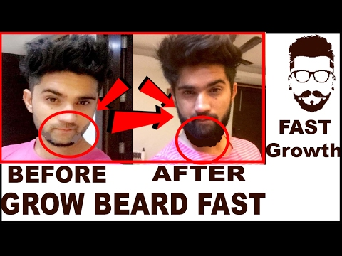 How to Grow Beard fast 100% | Beard Growth Tips in Hindi + English | India