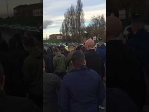 Rotherham fans escorted to train station at Doncaster