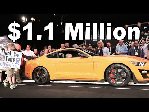 2020 Mustang GT500 Barrett Jackson Auction over $1,000,000