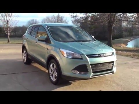 HD VIDEO 2013 FORD ESCAPE SE ECOBOOST FROSTED GLASS METALIC GREEN BLUE FOR SALE SEE WWW SUNSETMOTORS