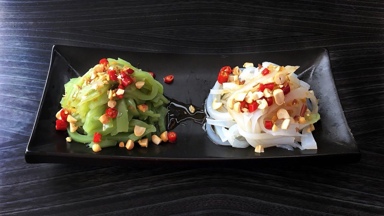 【 家常小菜】自制滑爽有韧性的两款凉粉-  黄瓜凉粉和原味凉粉