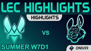 VIT vs MSF Highlights LEC Summer Season 2021 W7D1 Team Vitality vs Misfits Gaming by Onivia