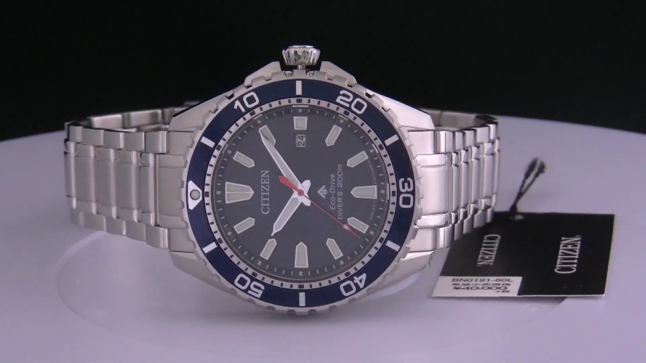 3ca0af4ac Citizen Promaster BN0191-80L Eco-Drive Diver's 200m - YouTube