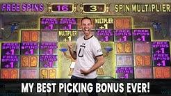 🤙 My BEST Picking Bonus EVER on 🔺 Pharaoh's Fortune Slots