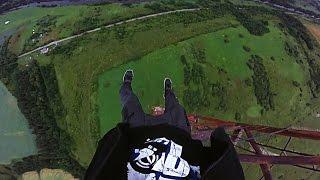 free climbing a 240m radio tower