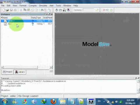 How to Run A Simple Code on ModelSim SE 6 1f