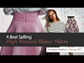 4 Best Selling High Waisted Skater Skirts Amazon Fashion, Winter 2017