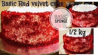 Red velvet cake  12 kg basic sponge recipe with 2 egg  Fousiya Firoz