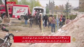 حملة شرسة على إدلب توقع مئة قتيل