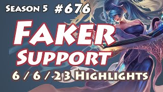 SKT T1 Faker - Sona Support(with Ghost Miss Fortune) - KR LOL Master 481LP