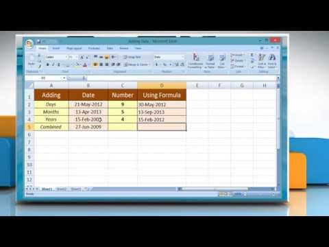 Add or Sum Date units in Microsoft® Excel 2007