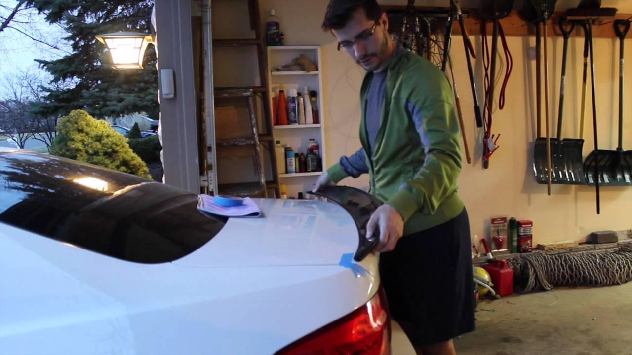 Carbon Fiber Spoiler Installation On My Bmw 335i