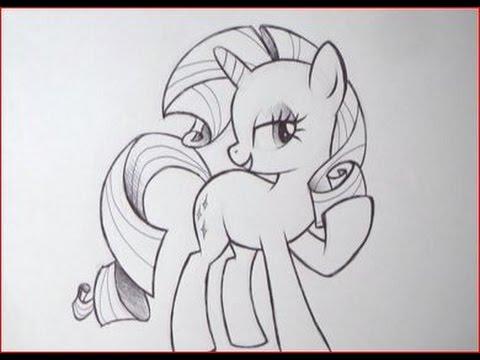 Come disegnare rarity della serie my little pony youtube - Immagini di pony gratis da stampare ...