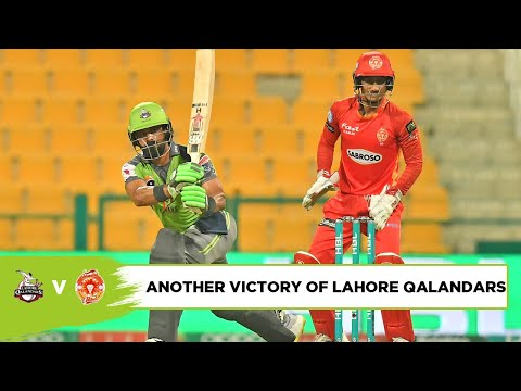 Another Victory of Lahore Qalanders | Lahore vs Islamabad | Match 15 | PSL 2021 | MG2T