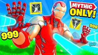 The *MYTHIC ONLY* IRON MAN Challenge in Fortnite!