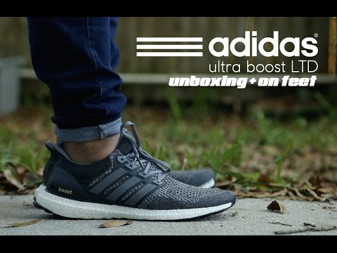 884570f6067 Adidas Ultra Boost LTD Mystery Grey Unboxing + On Feet - YouTube