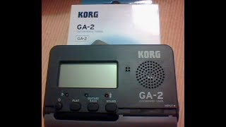 Introducing the new KORG GA 2 The compact handheld tuner for guitar bass