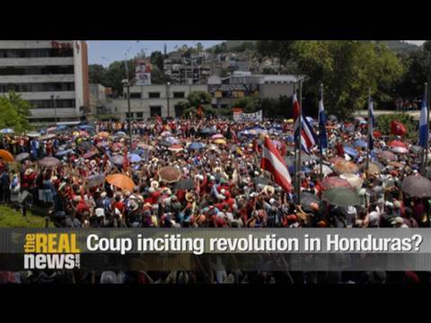 Coup inciting revolution in Honduras?