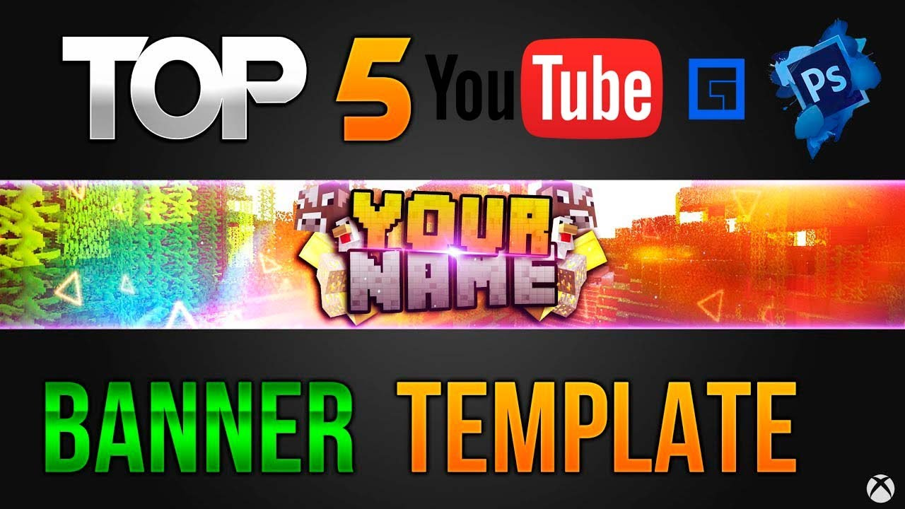 TOP 5│Youtube Channel Banner Template [Photoshop] HD FREE + ...