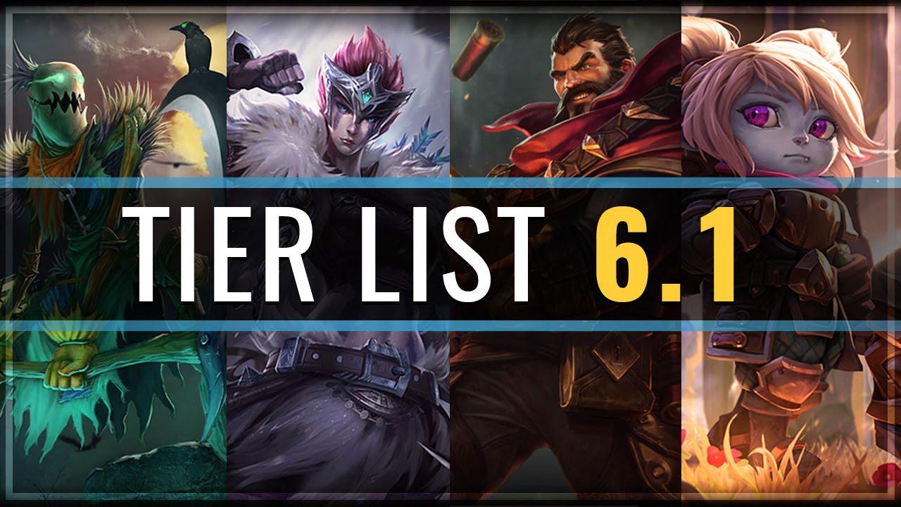 Patch 521 champion tier list
