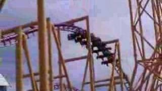 X Roller Coaster at Six Flags Magic Mountain