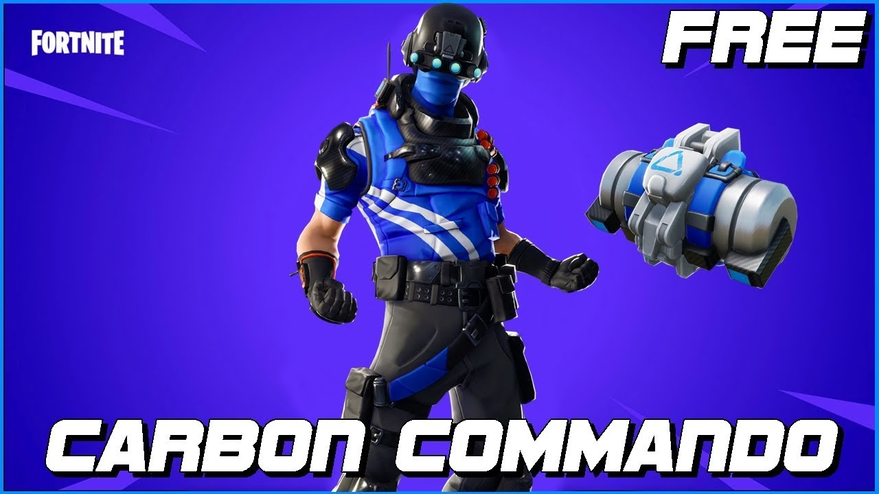 how to get the free carbon commando skin fortnite battle royale - fortnite carbon commando xbox