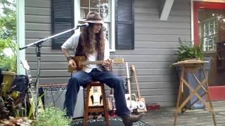 Justin Johnson Plays A Homegrown Strings 4 String Cigar Box Guitar