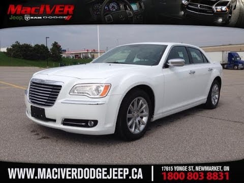 chrysler 300 2014 white. 2014 white chrysler 300 c newmarket ontario maciver dodge jeep youtube