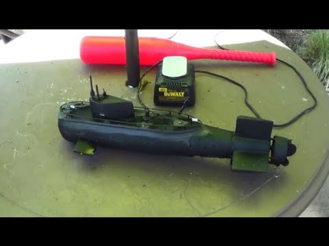 Submarine model made from baseball bat