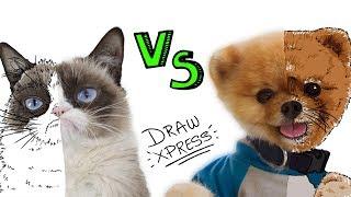 PERROS vs GATOS 🐶vs🐱 | Draw My Life