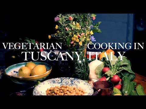 RELAXING VEGETARIAN COOKING: Italian Antipasti, Vegan Hummus, Easy Appetisers in Tuscany, Italy