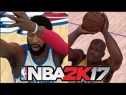 Who Can Hit 10 Free Throws Faster Shaquille O'Neal Or Andre Drummond | NBA 2K17 Challenge
