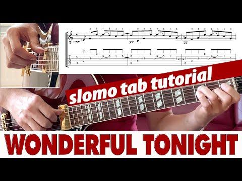 Wonderful Tonight Fingerstyle Guitar TAB TUTORIAL #3 | SLO-MO