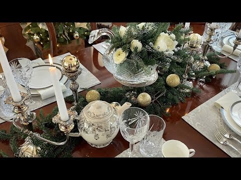 Christmas Table Setting - Elegant Christmas Decorating - How To Set A Table For Christmas
