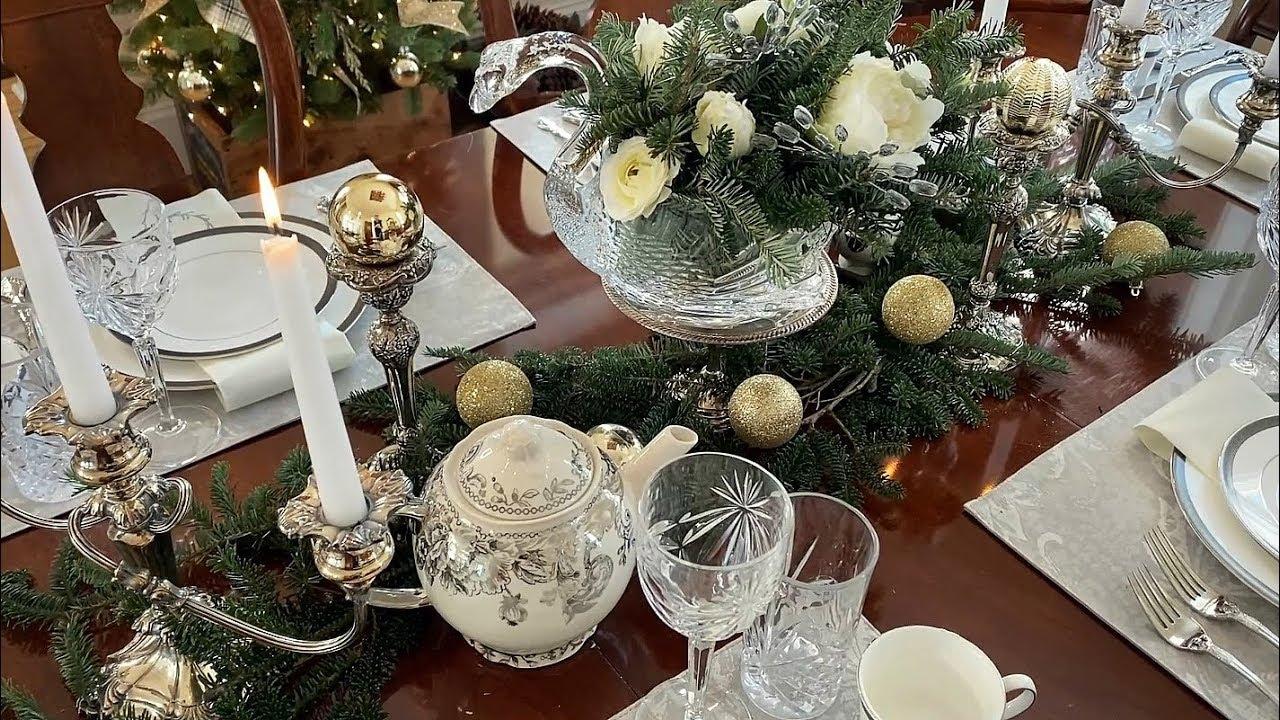 Christmas Table Setting Elegant