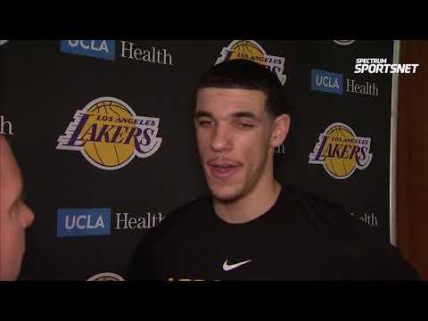 Lonzo Ball Pregame Interview / LA Lakers vs Mavericks