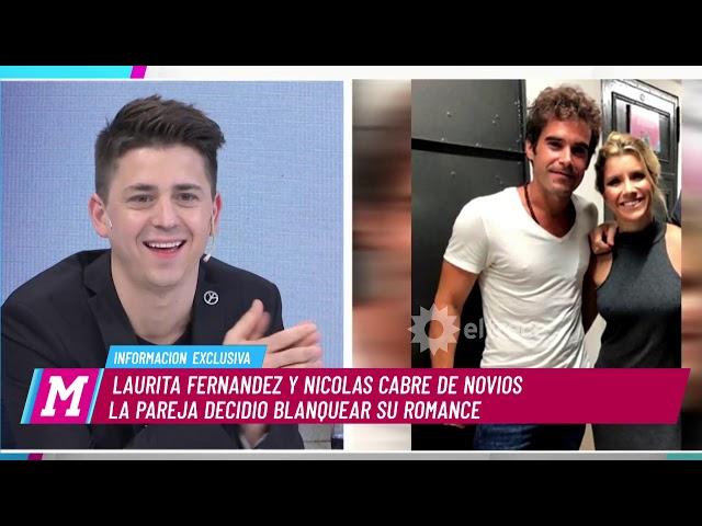 Nicolás Cabré y Laurita Fernández la nueva y flamante pareja del espectáculo