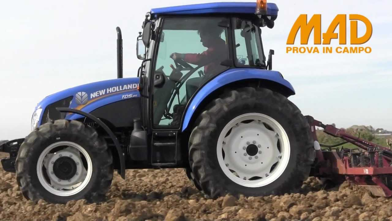 New Holland T5 >> New Holland TD5.85: prova in campo MAD 2013 - YouTube