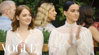 Emma Stone & Katy Perry Watch the Creative Final Fashion Show   Vogue