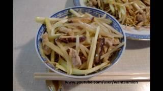 Hongkong Crispy Fried Noodles With Pork Strips, 肉絲炒麵