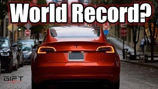 Did this Model 3 Break a World Record?