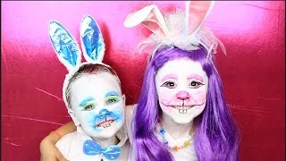 Easter Bunny Costume and Makeup Tutorial