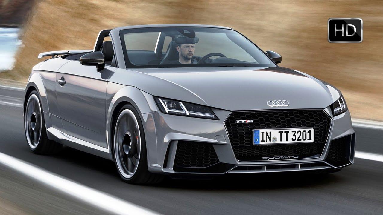 2017 Audi Tt Rs Roadster Grey Exterior Interior Design Road Driving Hd