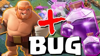 NOVO BUG da FÚRIA nos GIGANTES no CLASH OF CLANS !