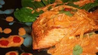 How To Make Pan Seared Salmon With Red Curry Sauce