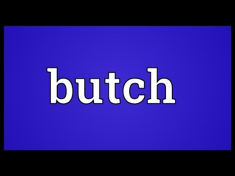 Butch Meaning