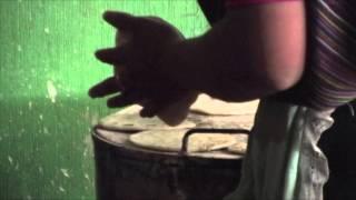 トルティーヤを焼く女性 撮影場所:トドスサントスクチュマタン、グアテ...