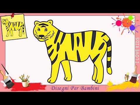 Come Disegnare Una Tigre Facile Passo Per Passo Per Bambini