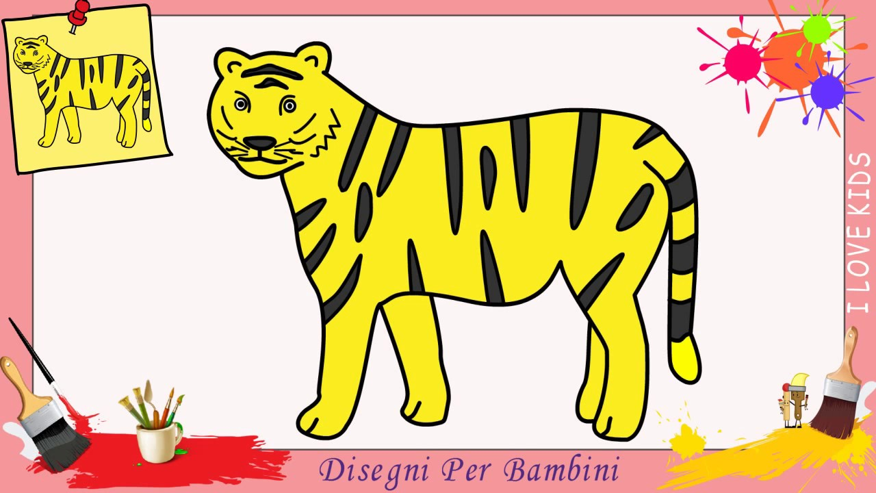 Come Disegnare Una Tigre Facile Passo Per Passo Per Bambini 2 Youtube