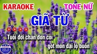 Giã Từ Karaoke Nhạc Sống Tone Nữ | Karaoke Tuấn Cò